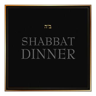 """Color de fondo de PixDezines Shabbat Dinner/DIY Invitación 5.25"""" X 5.25"""""""