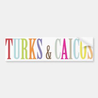 Color de fondo de PixDezines Turks/DIY Pegatina De Parachoque