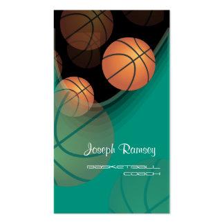 Color de fondo del baloncesto Coach DIY de PixDezi Tarjetas De Negocios