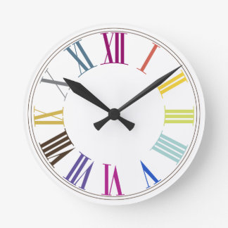 Color de fondo del color numeros/DIY de PixDezines Reloj Redondo Mediano