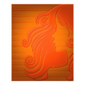 color de fondo del peinado de la mujer del pelo