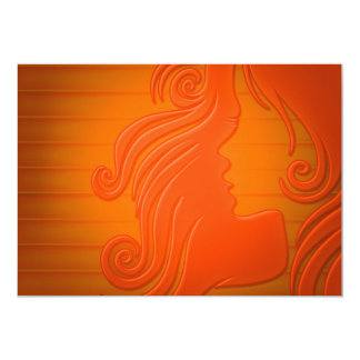 color de fondo del peinado de la mujer del pelo invitaciones personales