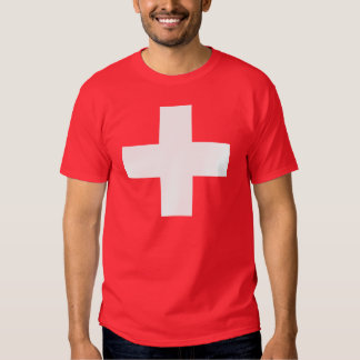 Color de fondo Editable, la bandera de Suiza Remeras