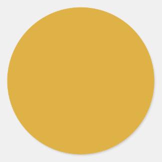 Color de fondo - oro pegatina redonda