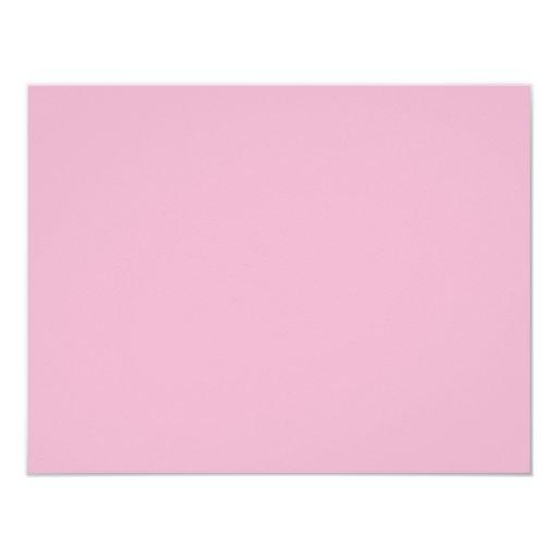 """Color de fondo - palidezca - rosa invitación 4.25"""" x 5.5"""""""