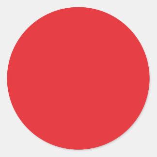 Color de fondo - rojo etiquetas redondas