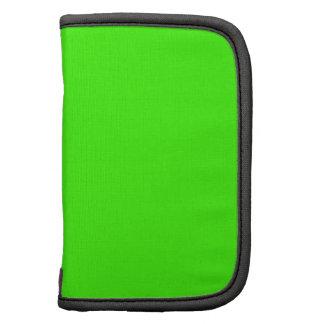 Color de fondo verde de neón verde claro del color organizadores