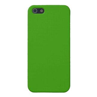 Color de fondo verde sólido 339900 iPhone 5 cobertura