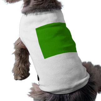 Color de fondo verde sólido 339900 camiseta de perrito