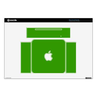 Color de fondo verde sólido 339900 mac mini calcomanías