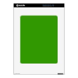 Color de fondo verde sólido 339900 iPad skin