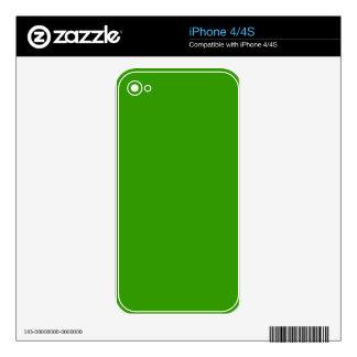 Color de fondo verde sólido 339900 skins para eliPhone 4S