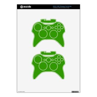 Color de fondo verde sólido 339900 mando xbox 360 skin