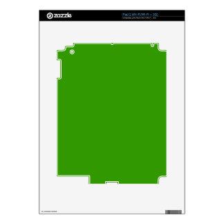 Color de fondo verde sólido 339900 skins para iPad 2