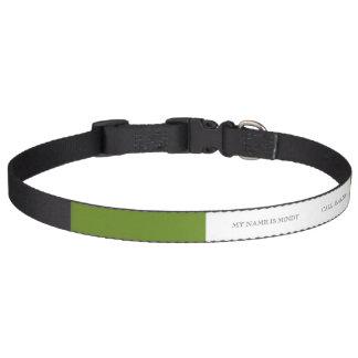 Color de gama alta del diseñador del uniforme mili collares de perro