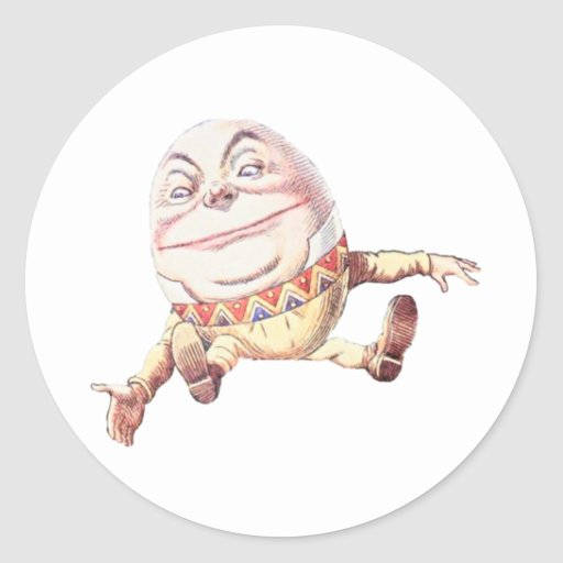 Color de Humpty Dumpty Etiqueta Redonda
