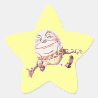 Color de Humpty Dumpty Pegatina En Forma De Estrella