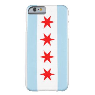 Color de la bandera de Chicago - caso del iPhone 6 Funda Barely There iPhone 6