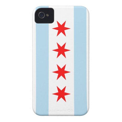 Color de la bandera de Chicago - iPhone 4 iPhone 4 Case-Mate Funda