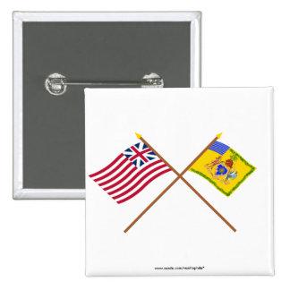 Color de la bandera de unión magnífica cruzada y d pin