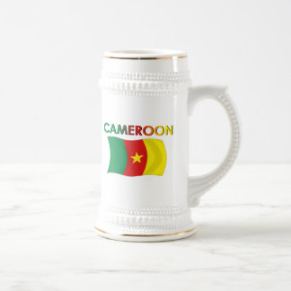 Color de la bandera del Camerún tri Jarra De Cerveza