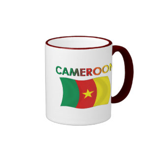 Color de la bandera del Camerún tri Tazas De Café