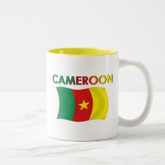 Color de la bandera del Camerún tri Taza De Dos Tonos