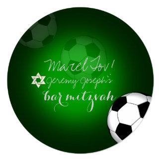 """Color de la barra Mitzvah/DIY del fútbol de Invitación 5.25"""" X 5.25"""""""