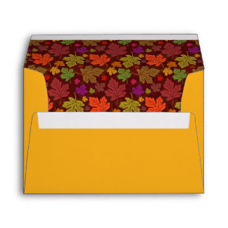 Color de la calabaza del otoño de las hojas de sobres