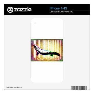 Color de la diversión del vector del diseño del calcomanías para iPhone 4S