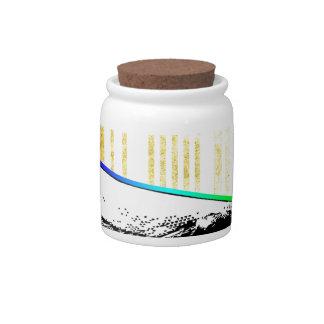 Color de la diversión del vector del diseño del jarras para caramelos