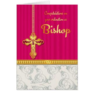Color de la enhorabuena de obispo Ordination In Bl Tarjeta De Felicitación