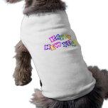 Color de la Feliz Año Nuevo Ropa De Mascota