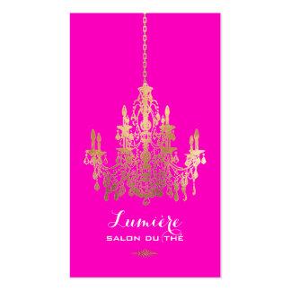 Color de la hoja chandelier/DIY del oro de Tarjetas De Visita
