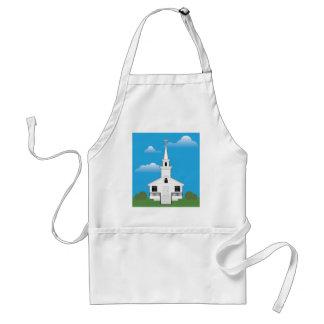 Color de la iglesia delantal
