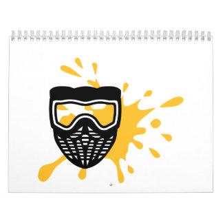 Color de la máscara de Paintball Calendario