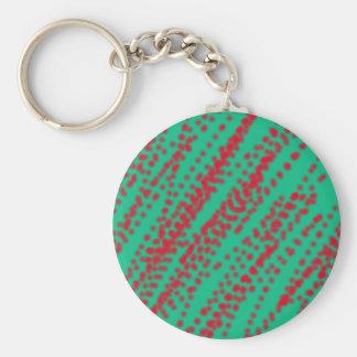 color de la menta del arte abstracto con salpicar llaveros personalizados