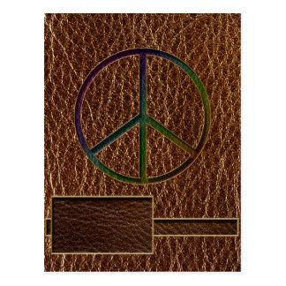 Color de la paz de la Cuero-Mirada Tarjetas Postales