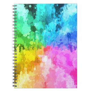 color de la pintura del goteo del chakra por el cuadernos