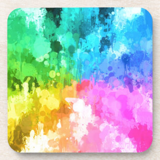 color de la pintura del goteo del chakra por el posavasos de bebidas