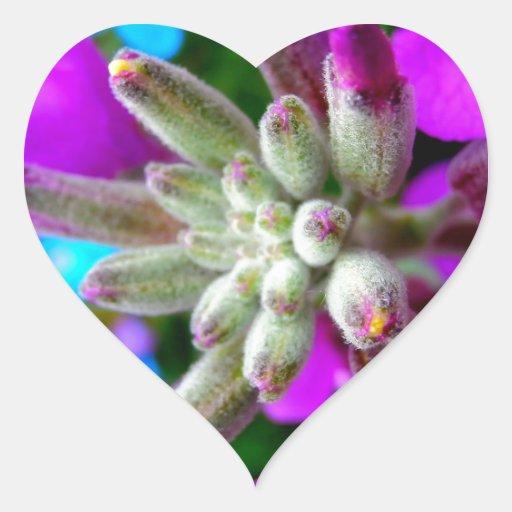 Color de la primavera calcomanías de corazones