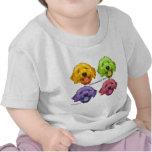 Color de la regla 4 de Goldendoodles Camiseta