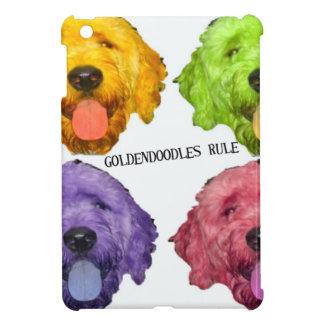 Color de la regla 4 de Goldendoodles iPad Mini Carcasas