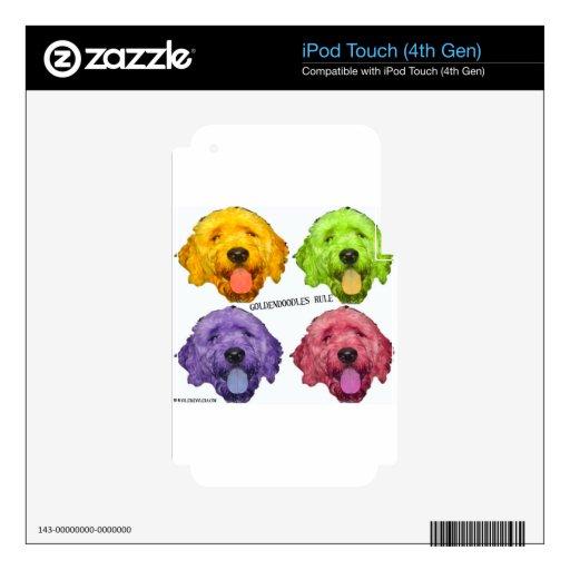 Color de la regla 4 de Goldendoodles iPod Touch 4G Calcomanía