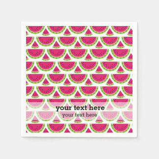 Color de la sandía servilleta de papel