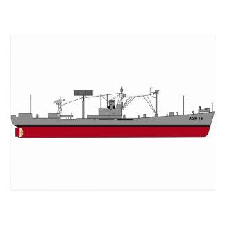 Color de la silueta AGR-15 del trazalíneas de USS Postal