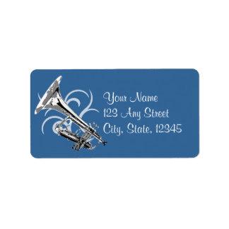 Color de la trompeta etiquetas de dirección