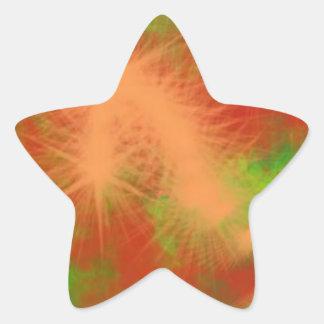 color de la vida pegatina en forma de estrella