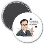 Color de las citas de Mitt Romney Imanes De Nevera