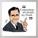 Color de las citas de Mitt Romney Impresiones
